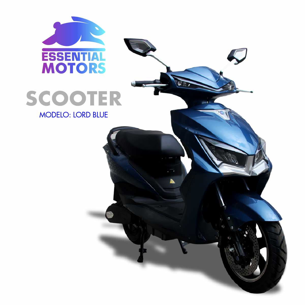 SCOOTER ELECTRICO LORD 1200 WATTS/45KMH/FRENOS DE DISCO/SUSPENSION HIDRAULICA